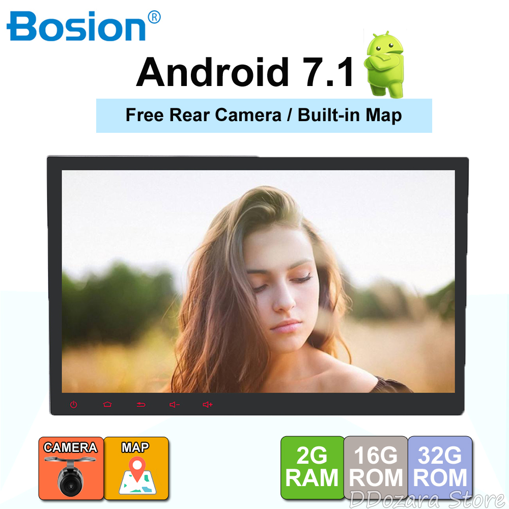 10'1 inch 1024*600 Android 7.1 Car Tablet 2 din Universal For Nissan GPS Navigation Radio Stereo Audio Multimedia Player