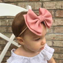 Baby girl headband Infant hair accessories cloth Tie big bows Headwear tiara Gift Toddlers bandage Ribbon newborn headwrap стоимость