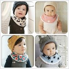 DreamShining/Новинка; детские нагрудники; зимний теплый шарф для младенцев; банданы для новорожденных; фартук для девочек и мальчиков; Слюнявчики с принтом; Слюнявчики для малышей