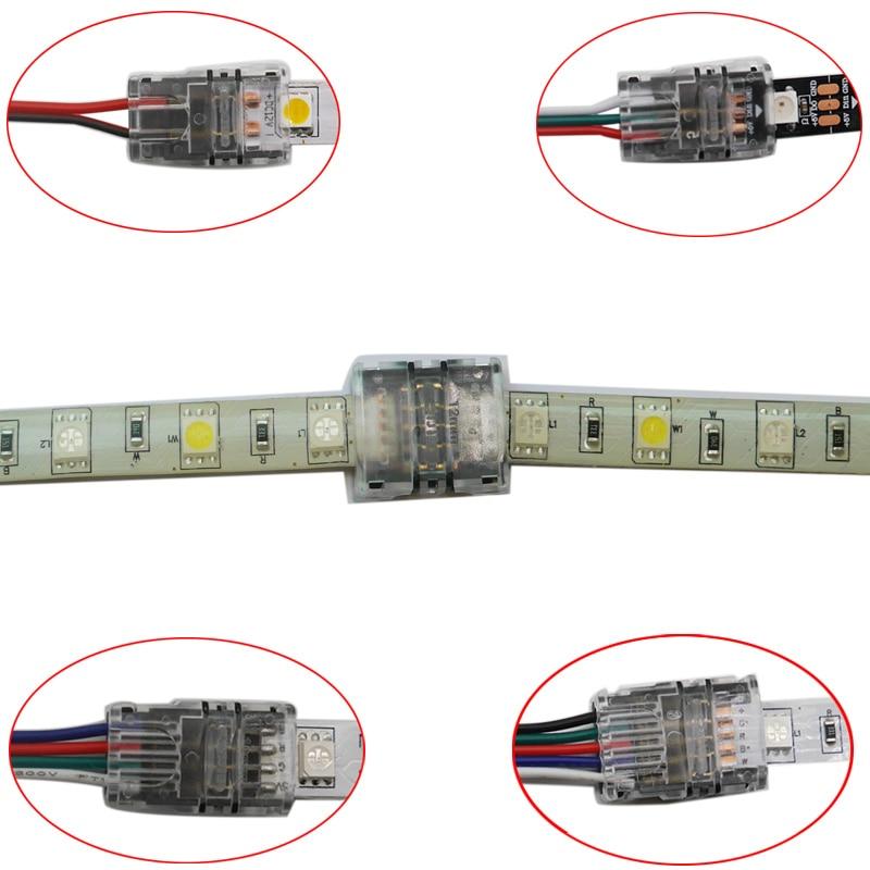 Permalink to 5pcs/lot 2pin 3pin 4pin 5pin LED Strip Connector for 3528 5050 led Strip to Wire/Strip Connection Use Terminals