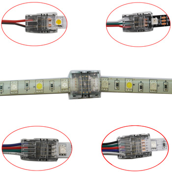5pcs/lot 2pin 3pin 4pin 5pin LED Strip Connector for 3528 5050 led to Wire/Strip Connection Use Terminals - discount item  25% OFF Electrical Equipment & Supplies