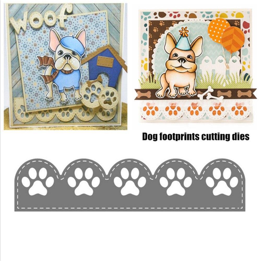Dog Footprints Scalloped Border Dies Metal Cutting Dies For Scrapbooking Card Making Album Embossing Craft Stencil New 2019 Dies