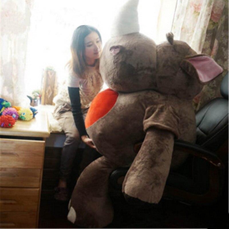 Fancytrader plus grand géant licorne rhinocéros jouets en peluche grand doux animaux en peluche rhinocéros poupée 140 cm pour les enfants