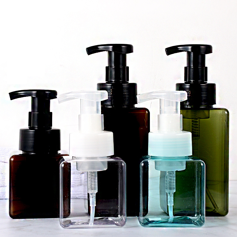New Design Soap Dispenser Bottles Bathroom Shampoo Cosmetic Cream Lotion Containers Press Empty Bottles Bathroom Accessories