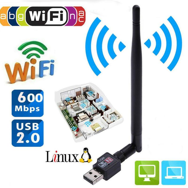 600Mbps USB 2.0 Wifi Router Wireless Adapter Wi Fi Internet Network LAN Card with 5dBI Antenna for Laptop Notebook Computer PC
