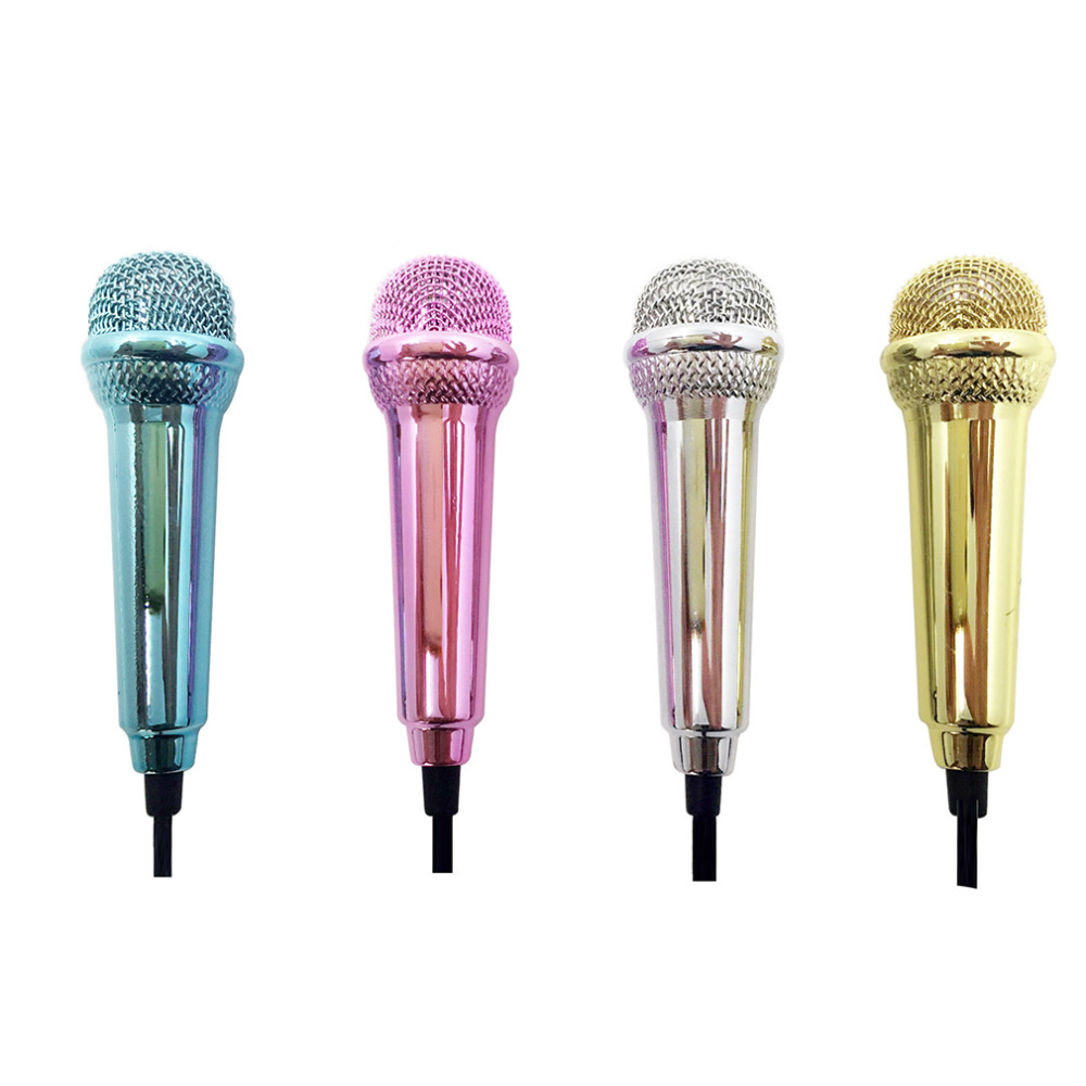 New 1pcs Mini 3.5mm Wired Microphone For Mobile Phone Tablet PC Laptop Speech Sing 4 Color Newest