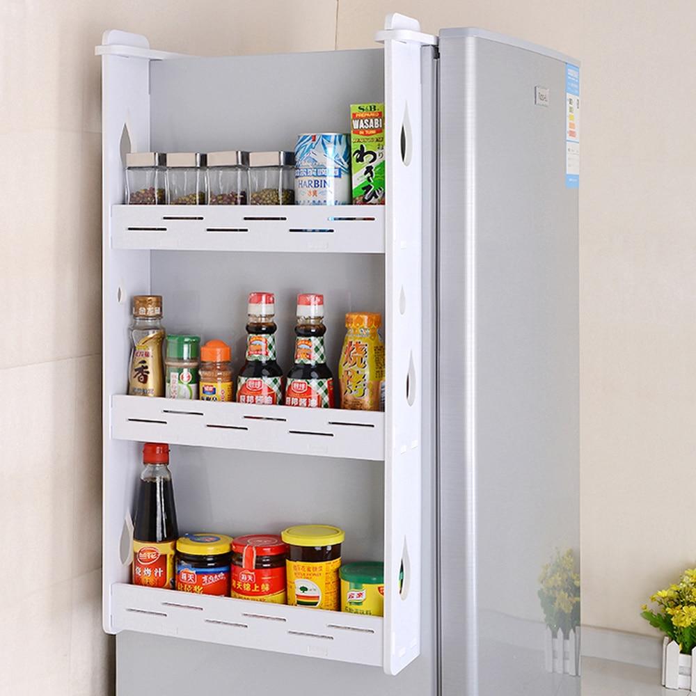 Refrigerator Rack Kitchen Pendant Refrigerator Side Wall Racking Condiment Wall Hanging Storage Shelf Spice Rack Wx9031622