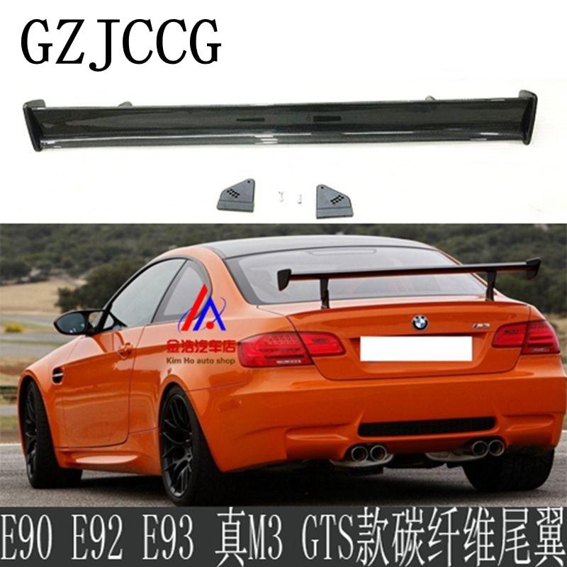 Dla BMW 1M M3 E82 E87 E90 E92 E93 F30 F10 Revozport styl GTS spoiler z włókna węglowego/FRP materiał tylny spoiler 2009 +