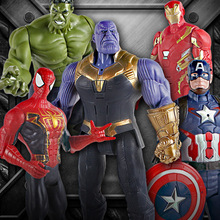 цена Marvel Toys The Avengers Figure 30cm Superhero Batman Thor Hulk Captain America Action Figure Collectible Model Doll Sound Light онлайн в 2017 году