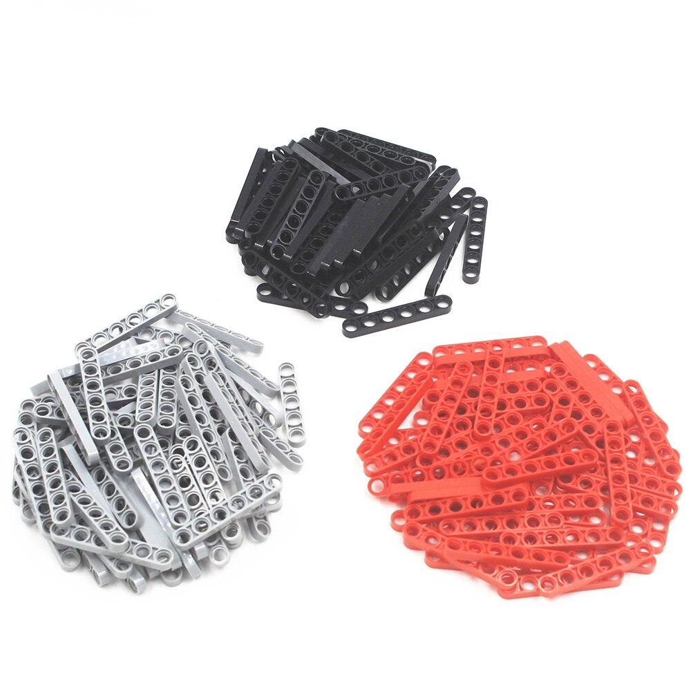 Building Blocks MOC Technic Parts 30pcs TECHNIC 6M HALF BEAM Compatible With Lego For Kids Boys Toy