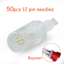 50 PCS Electric Derma Pen Needles Bayonet 12 Pin MYM Cartridge For Auto Microneedle Derma Pen Tattoo Needles 12 Pin Needle Tip