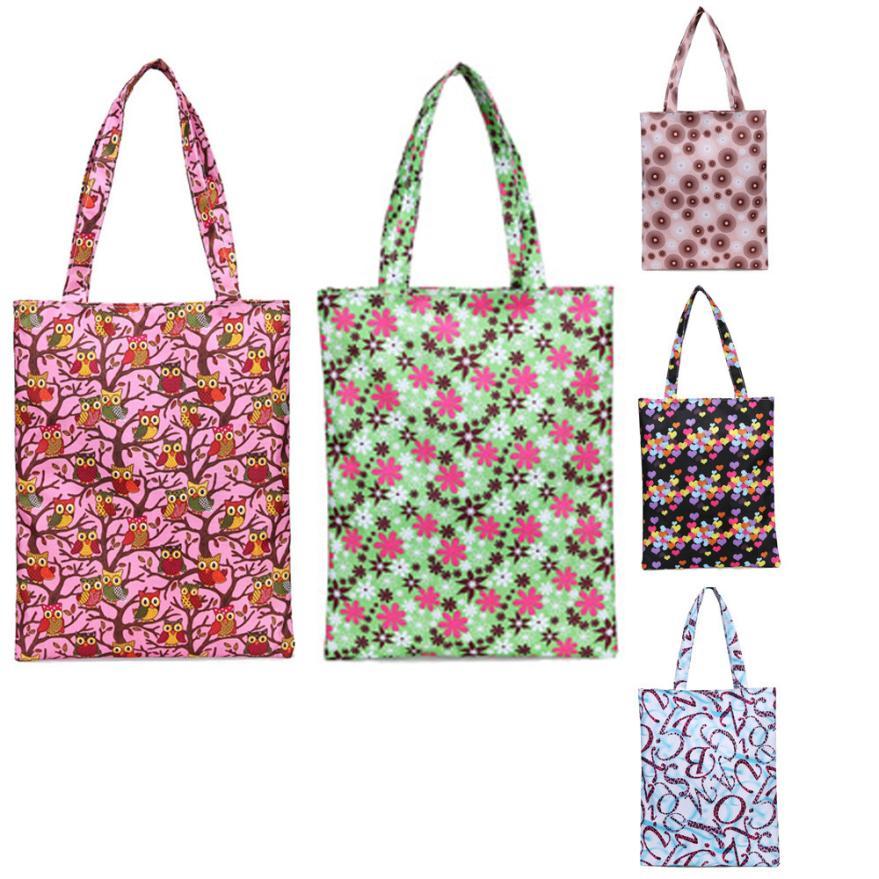 New Arrival Fashion Women Printing Casual Tote Shopping Bag 2018 Hot Sale Lady Canvas Handbag Zipper Shoulder Bag bolsos mujer S