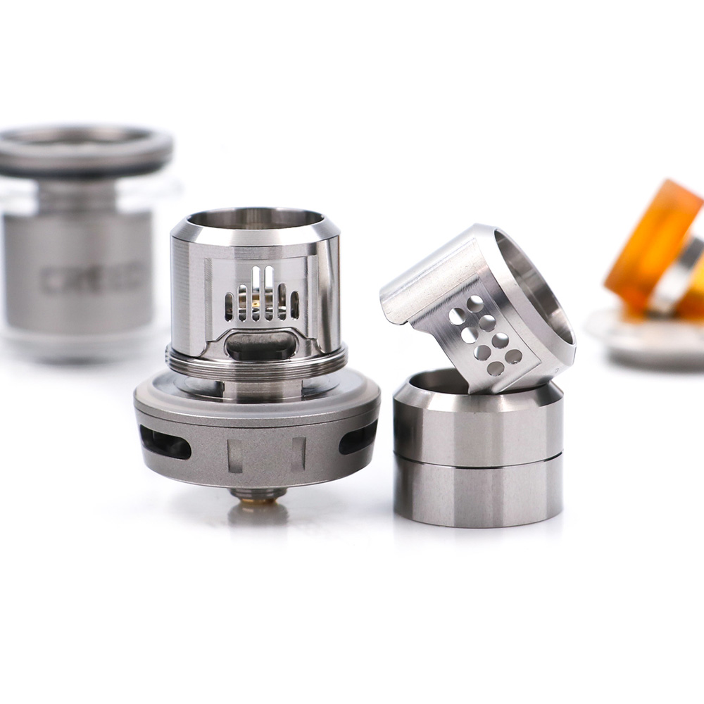 2018 Best Flavor RTA Geekvape Creed RTA with 3 interchangeable airflow  6 5ml capacity support single and dual coil vs Zeus RTA