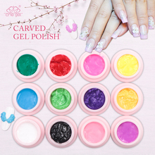 Che Gel Pigment 3D Carved Nail Gel Polish Floral Gel Varnish Lacquer LED DIY Thick Gel Nail Polish Manicure Adhesive Glue Flower