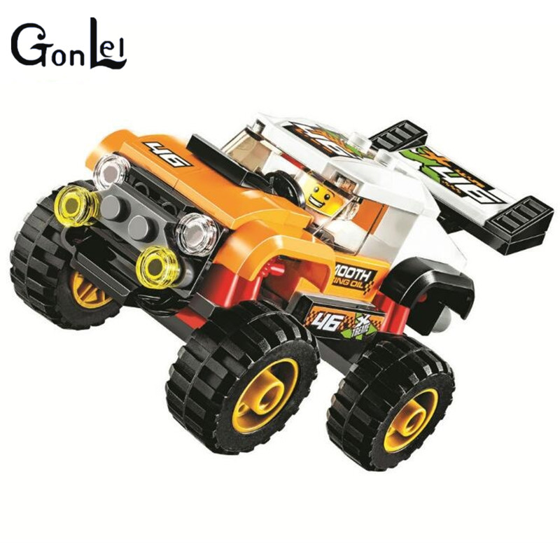 (GonLeI) 10645 Urban City Stunt Truck Vehicle Building Blocks Bricks Compatible With Toys Gifts for Children Model gonlei 3117 city creator 3 in 1 vacation getaways building blocks bricks kids model toys marvel compatible with