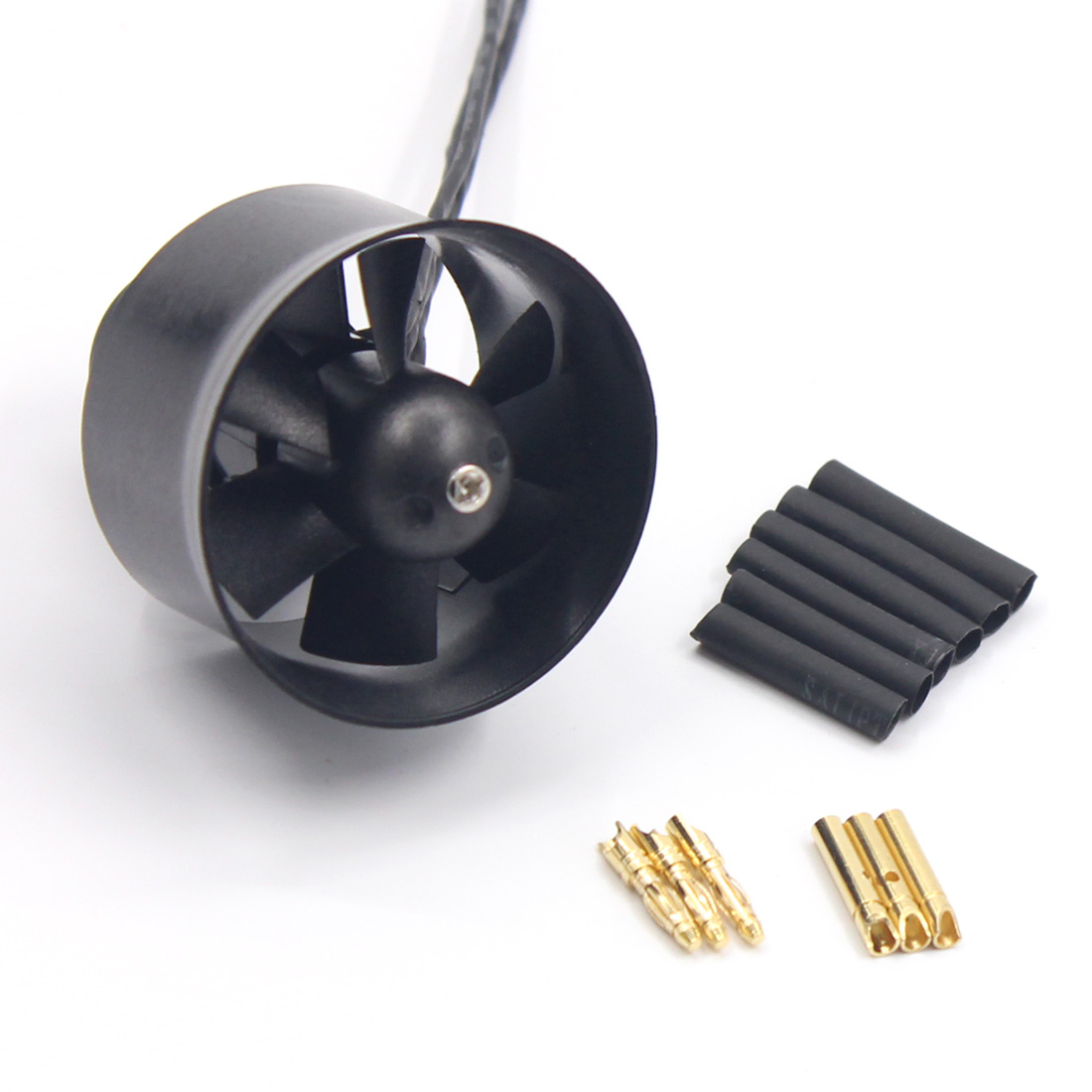 QX-Motor 30mm 6 Paddle Ducted Fan EDF QF1611 5000KV 6000KV 7000KV Brushless Motor For DIY RC Airplanes Model Accessories Parts image