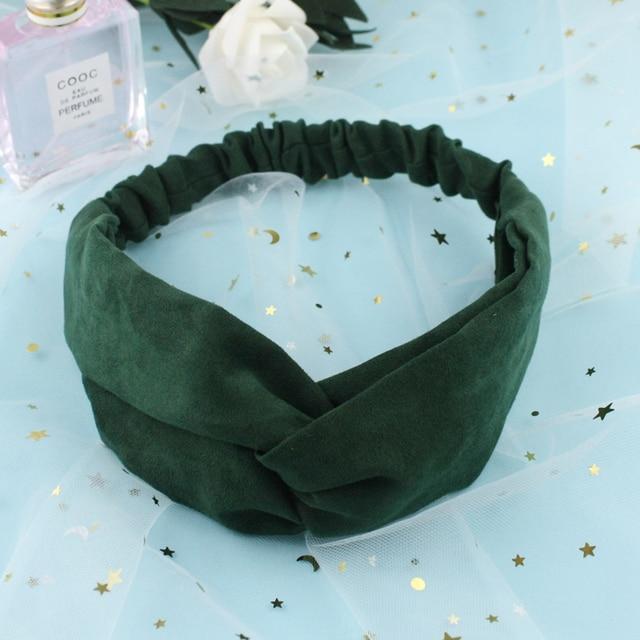 Gift Ear studs Woman Knotted Turban Hair Accessories for Girls Turban Elastic Hairband Head Wrap Striped  Hair Scrunchies W276 4