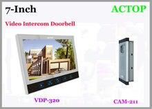 VDP-313 + cam-211 Прямой Нажмите проводной вилла 7-дюймовый цветной видеодомофон интеллектуальные визуальные музыка домофона