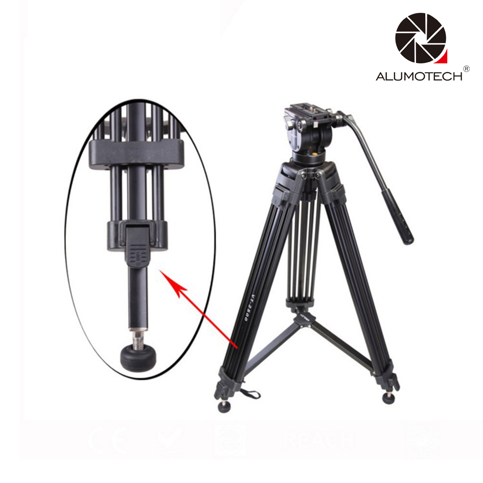 Max Load 15KG VT 2500 Pro 3 Secion Portable Tripod Stand For Camera Video Studio