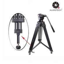 Max Yük 15 KG VT-2500 Pro 3-Secion Taşınabilir Kamera Video Stüdyo Için Tripod Standı