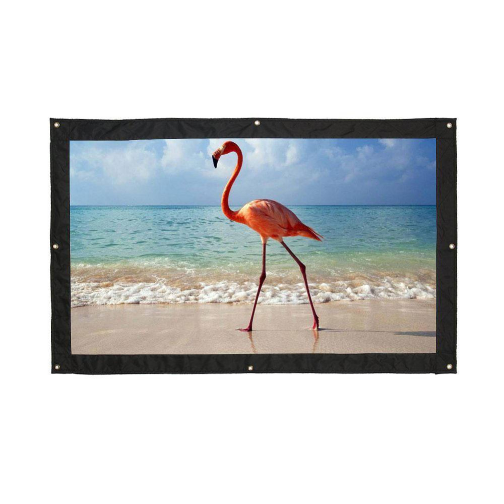 Cobee Portable Foldable 16:9 HD 72inch Projector Screen Fiber Canvas Curtain Outdoor Flipchart Christmas Gift