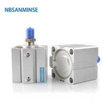 NBSANMINSE Cylinder Pneumatic Parts Durability SDA Series With Magnet 20mm Bore Size Compact AirTAC Type Double Acting