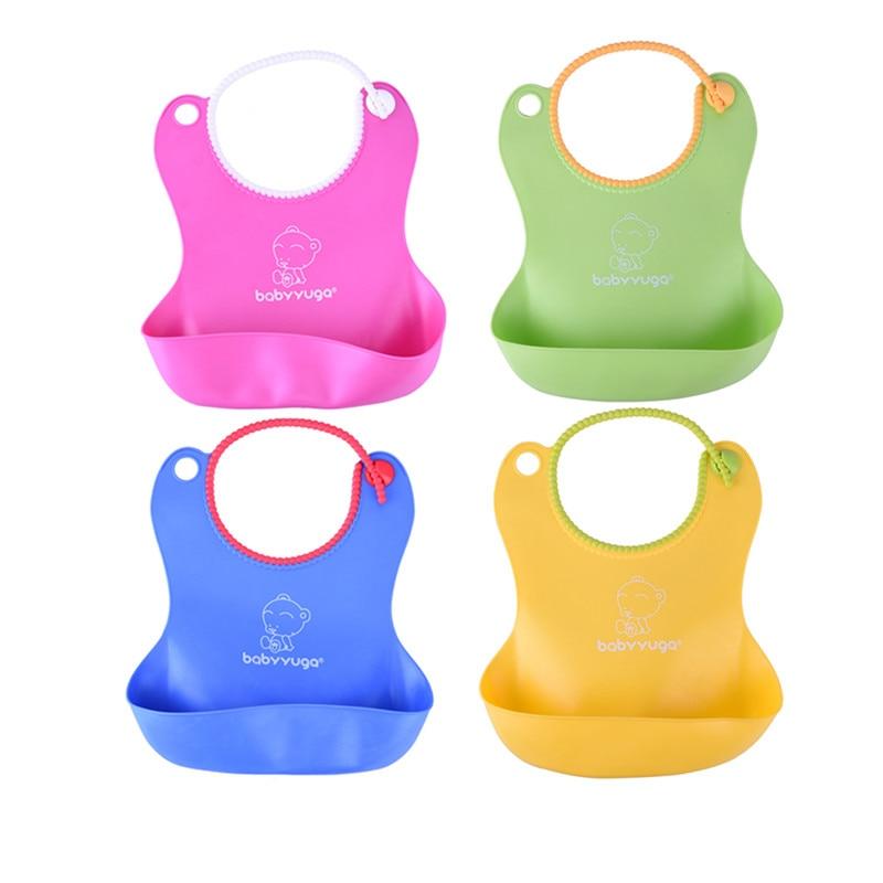 colorful Baby Silicone Bib Waterproof Disposable Bib Kids Saliva Towel Boys And Girls Bi ...