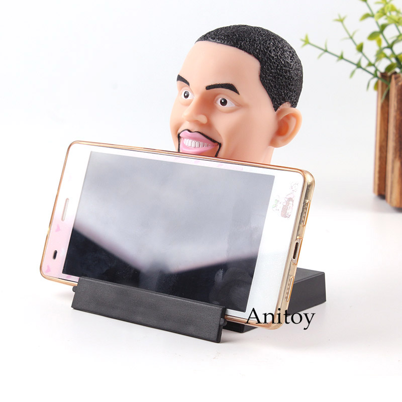 Basketball Players Michael Jordan Kobe Bryant Curry James Star Figure Action Phone Holder Bobblehead Doll PVC Toys for Men Gifts image