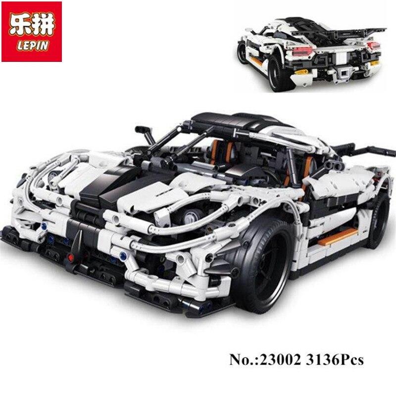 Lepin 23002 3136Pcs Technic Series The MOC-4789 Changing Racing Car Set Children Educational Building Blocks Brick kislis 4789