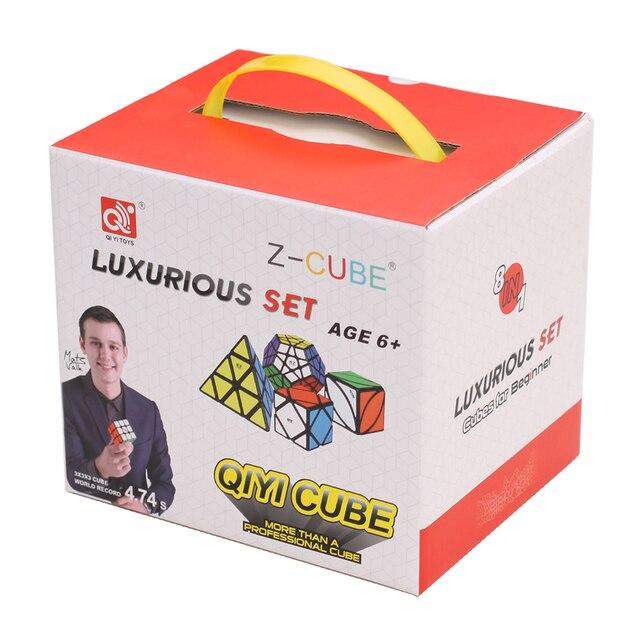 ZCUBE Bundle 8PCS/Set Gift Pack Qiyi XMD Magic Cube Set 2x2x2 3x3x3 4x4x4 Mirror Speed Cube Puzzle Educational Toys For Children 6