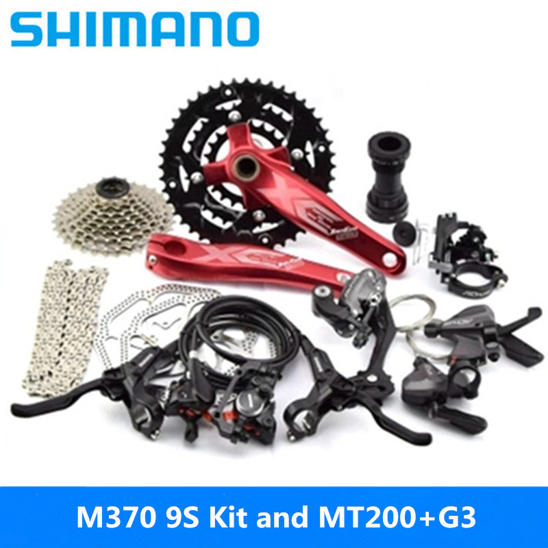 SHIMANO Mountain-Bike-Kit Transmission 27-Speed-Kit Rear MT200 And Large-Kit G3 Dial-Includes