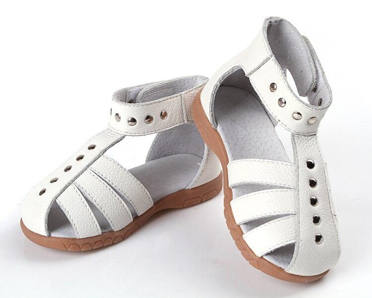 djevojke kožne sandale 100% prave kože toddler cipele srebrne - Dječja obuća - Foto 5