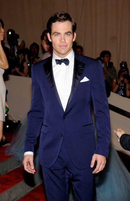 Clásico de la nueva Llegada trajes de boda para hombres azul muesca solapa del novio esmoquin para hombres trajes de boda trajes de hombre 2 unidades