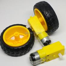 4 шт TT Мотор 130 мотор с колесом 2 шт TT Мотор+ 2 шт 65 мм колесо умный автомобиль робот мотор-редуктор DC3V-6V DC мотор-редуктор для Arduino