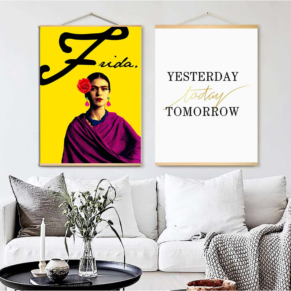 Frida Kahlo Painting Scroll Posters and Prints Nordic Decoration ...