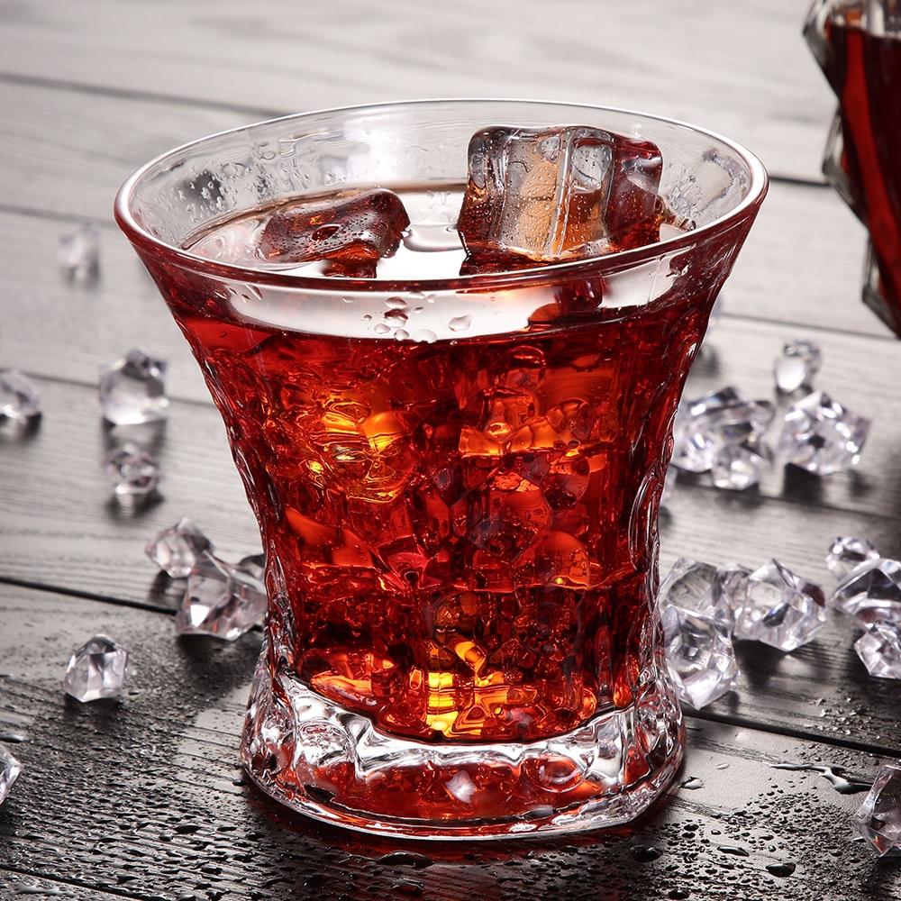 Whiskey Wine Glass Round Vodka Water Juice Milk Lead-Free Genuine 6oz - Kitchen, Dining and Bar