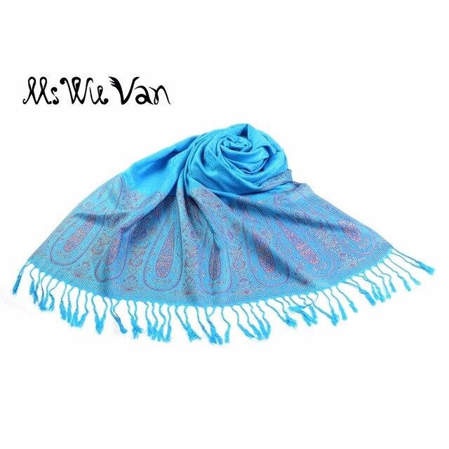 74af960fae2c Turquoise Écharpe Paisley Pèlerine De L inde D hiver Foulards 100% Coton  Pashmina