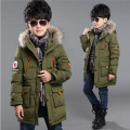 New brand winter down coat male child Long design thickening children's clothing baby kids down jacket Cotton parkas