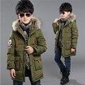 Nova marca de inverno para baixo casaco masculino criança espessamento projeto Longo das crianças roupas de bebê crianças para baixo jaqueta de Algodão parkas