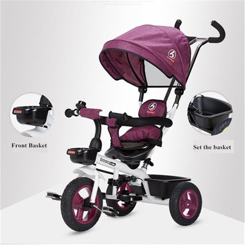 Hot Sell Seat 360 Degrees Rotated Baby Push Baby Stroller Multicolor Child Bike Commutatable Handle Kids Tricycle Free Drop Ship19