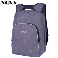 XQXA Men S Backpack Multifunctional Student Backpack Fashion Men Travel Backpack Black Large Space Anti Theft