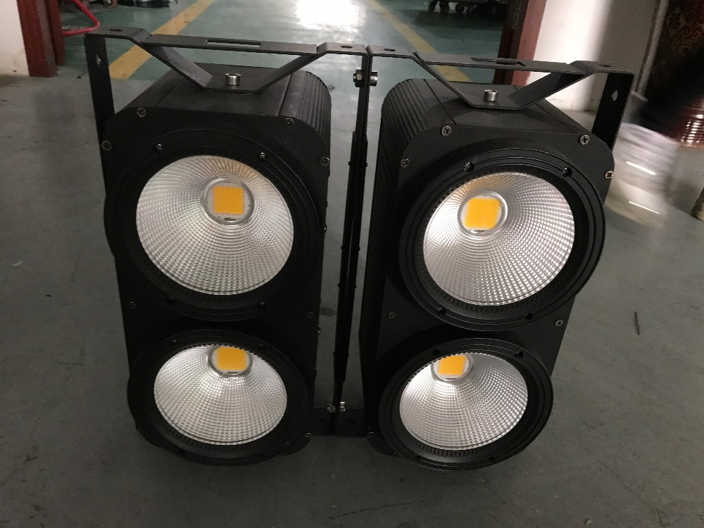 Led studio light 4X100w white and warm white cob led blinder par can stage lighting for dj party disco equipment background