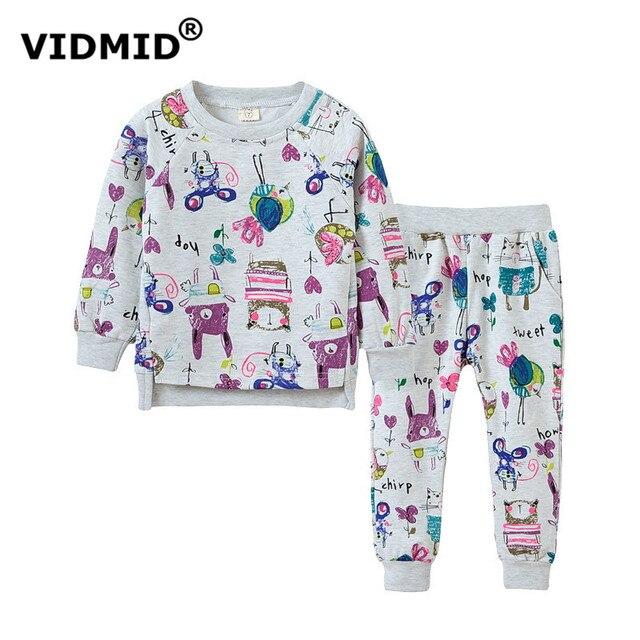 VIDMID девочка одежда наборы для девочек костюмы дети свитер + брюки с длинным рукавом блузка весна осень детской одежды 1045 58