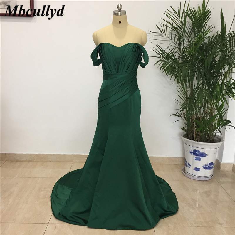 Mbcullyd Long   Bridesmaid     Dresses   2019 Sexy Off The Shoulder Backless Maid of Honor   Dress   Boho Country Mermaid Wedding Party Gown