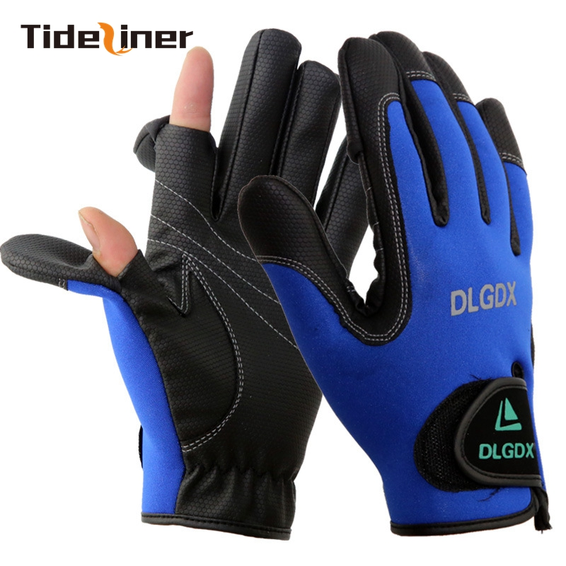 Gloves With Fingertips Out: High Quality Men Full Finger Gloves Sport Fly Carp