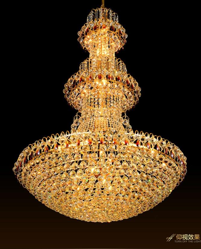 Qızıl Kristal Çilçıraq LED lampa Müasir Kristal Çilçıraqlar - Daxili işıqlandırma - Fotoqrafiya 5