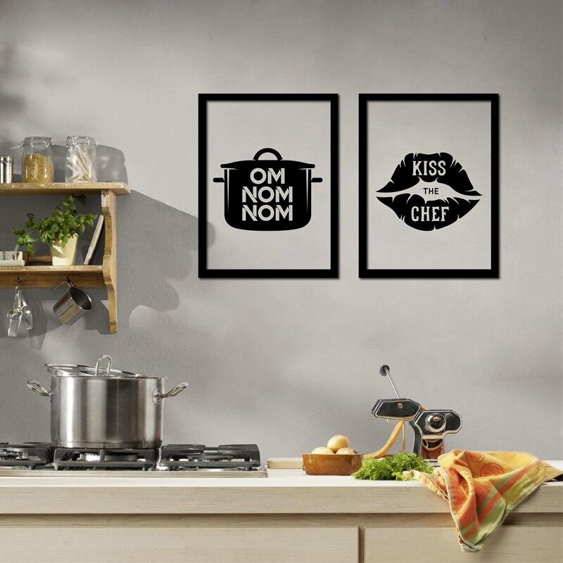 US $3.42 20% di SCONTO Divertente Decorazione Cucina di Casa Amo Cucinare  Stampe Su Tela Poster Design Creativo Utensili Da Cucina Pittura di Arte ...
