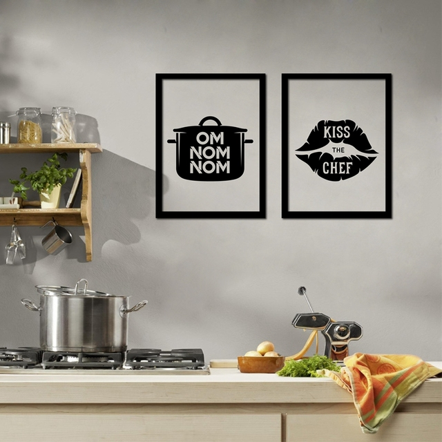Funny home kitchen decoration i love cooking canvas prints poster creative design kitchenware wall art