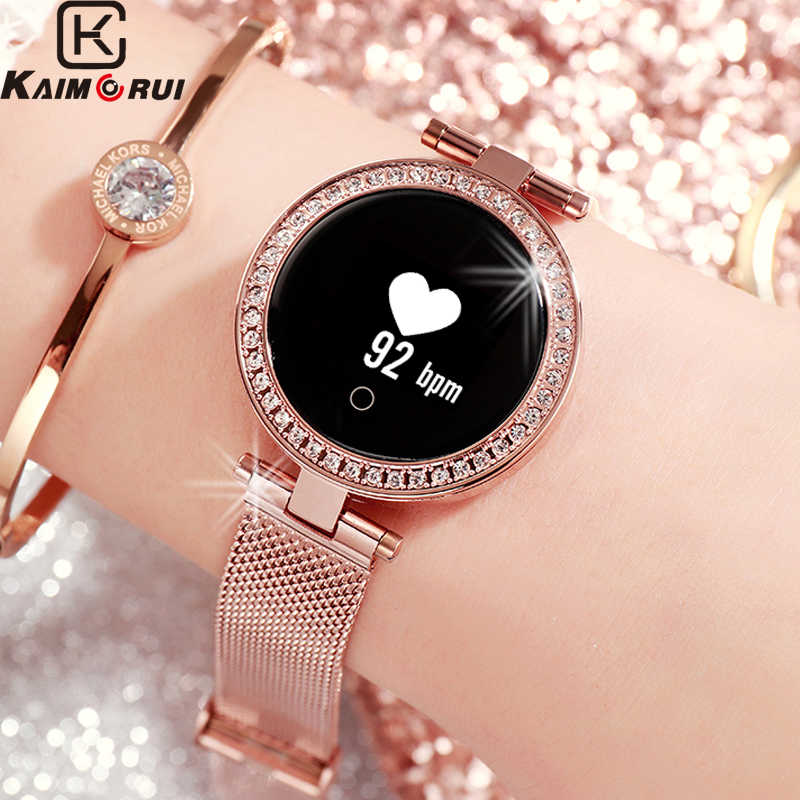 Smart Watch Women IP68 Waterproof Smart Tracker Heart Rate Bluetooth Fitness Bracelet Call Reminder SmartWatches for Android IOS