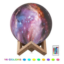 Remote Control/Touch 3/7/16 Colors Starry Star 3D Moon